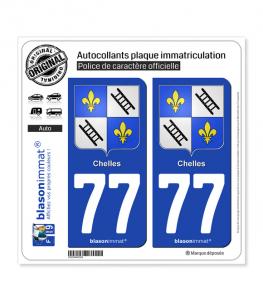 77 Chelles - Armoiries | Autocollant plaque immatriculation