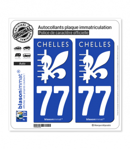 77 Chelles - Ville | Autocollant plaque immatriculation