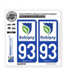 93 Bobigny - Ville | Autocollant plaque immatriculation