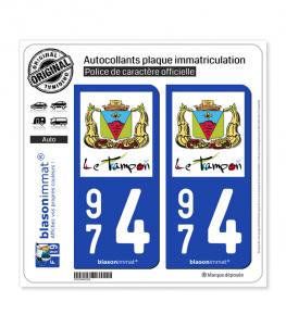 974 Le Tampon - Ville | Autocollant plaque immatriculation