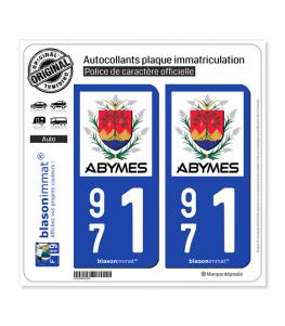 971 Abymes - Ville | Autocollant plaque immatriculation