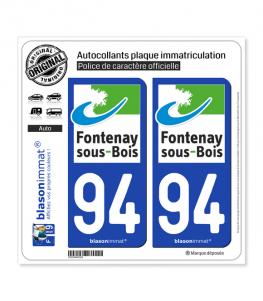 94 Fontenay-sous-Bois - Ville | Autocollant plaque immatriculation