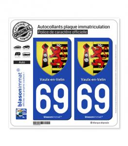 69 Vaulx-en-Velin - Armoiries | Autocollant plaque immatriculation