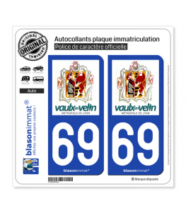 69 Vaulx-en-Velin - Ville | Autocollant plaque immatriculation