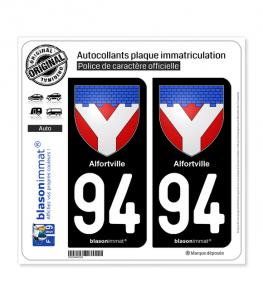 94 Alfortville - Armoiries | Autocollant plaque immatriculation