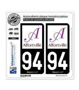 94 Alfortville - Ville | Autocollant plaque immatriculation