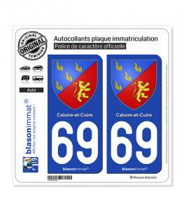 69 Caluire-et-Cuire - Armoiries | Autocollant plaque immatriculation