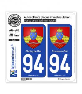94 Choisy-le-Roi - Armoiries | Autocollant plaque immatriculation