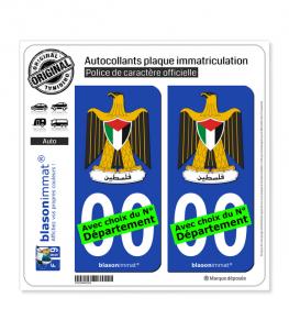 Palestine - Armoiries| Autocollant plaque immatriculation