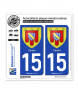 15 Cantal - Armoiries | Autocollant plaque immatriculation