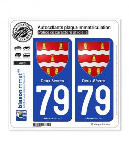 79 Deux-Sèvres - Armoiries | Autocollant plaque immatriculation
