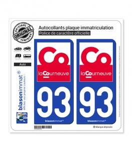 93 La Courneuve - Ville | Autocollant plaque immatriculation