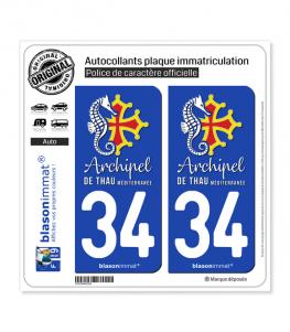 34 Thau - Archipel II | Autocollant et plaque immatriculation