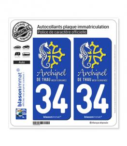 34 Thau - Archipel | Autocollant et plaque immatriculation