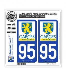 95 Garges-lès-Gonesse - Ville | Autocollant plaque immatriculation