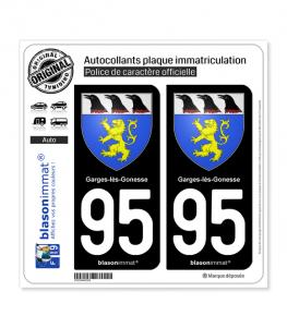 95 Garges-lès-Gonesse - Armoiries | Autocollant plaque immatriculation