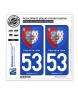 53 Pays de la Loire - Armoiries | Autocollant plaque immatriculation
