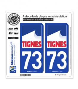 73 Tignes - Commune | Autocollant et plaque immatriculation