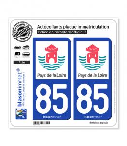 85 Pays de la Loire - Tourisme | Autocollant plaque immatriculation