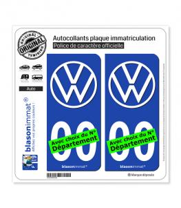 Volkswagen - Macaron | Autocollant plaque immatriculation