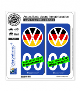 Volkswagen - Macaron Drapé | Autocollant plaque immatriculation