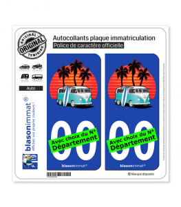 Volkswagen - Van Snowboards | Autocollant plaque immatriculation