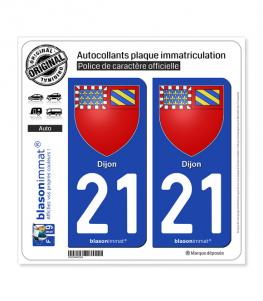 21 Dijon - Armoiries | Autocollant plaque immatriculation
