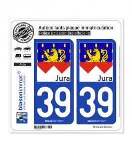 39 Jura - Drapé | Autocollant plaque immatriculation