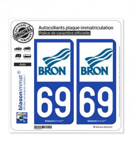 69 Bron - Ville | Autocollant plaque immatriculation