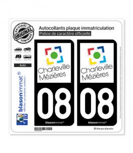08 Charleville-Mézières - Ville   Autocollant plaque immatriculation