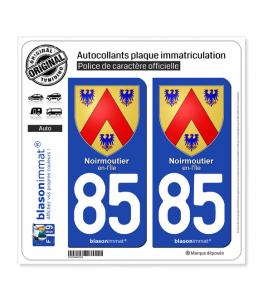 85 Noirmoutier-en-l'Île - Armoiries | Autocollant plaque immatriculation