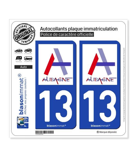 13 Aubagne - Ville   Autocollant plaque immatriculation