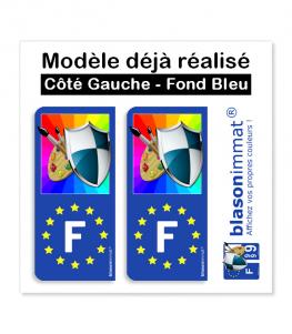 Modèle déjà réalisé - Côté Gauche Fond Bleu