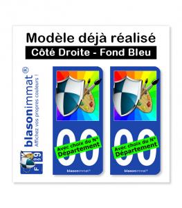 Modèle déjà réalisé - Côté Droite Fond Bleu