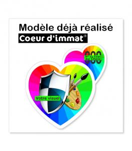 Modèle déjà réalisé - Coeur d'immat | Autocollant Coeur d'immatriculation