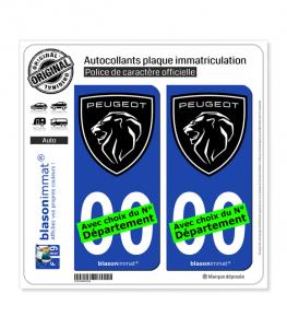 Peugeot | Autocollant plaque immatriculation