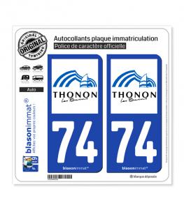 74 Thonon-les-Bains - Ville | Autocollant plaque immatriculation