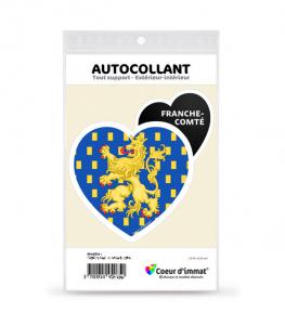 Franche-Comté - Blason | Autocollant Coeur j'aime