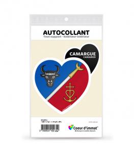 Camargue - Blason | Autocollant Coeur j'aime