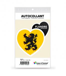 Flandre - Drapée | Autocollant Coeur j'aime