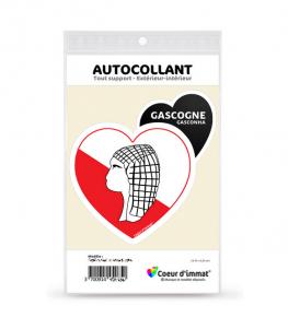 Gascogne - Culturel | Autocollant Coeur j'aime