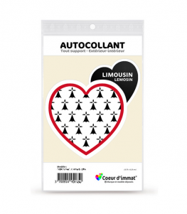 Limousin - Blason | Autocollant Coeur j'aime