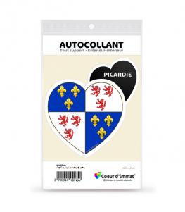 Picardie - Blason | Autocollant Coeur j'aime