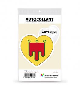 Auvergne - Blason | Autocollant Coeur j'aime