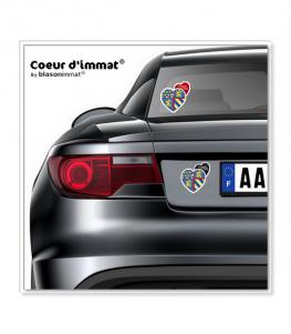 Bourgogne-Franche-Comté - Blason   Autocollant Coeur j'aime sur véhicule