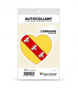 Lorraine - Blason | Autocollant Coeur j'aime