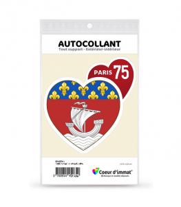 Paris 75 - Blason | Autocollant Coeur j'aime