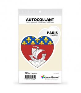 Paris - Blason | Autocollant Coeur j'aime