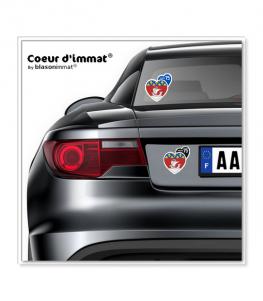 Paris 75 - Blason | Autocollant Coeur j'aime sur véhicule