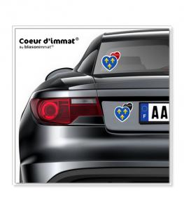 Ile-de-France - Blason   Autocollant Coeur j'aime sur véhicule